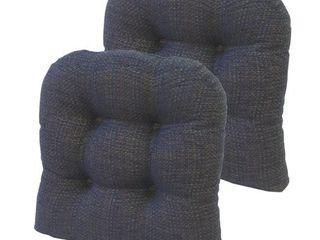 Gripper Tyson 15  x 15  Universal Chair Cushion  Navy  Set of 6