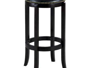 Cordova Black Swivel Counter Height 24 Inch Bar Stool