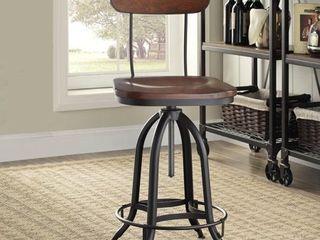 Carbon loft Baird Black Chestnut Metal Wood Adjustable Stool  Retail 144 49