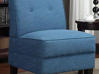 Porch   Den Pope Street Caribbean Blue linen Armless Chair  Retail 176 99