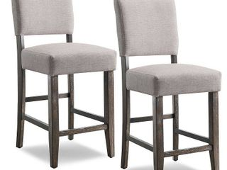 Heather Grey Upholstered Counter Height Stool  Set of 2  Retail 183 99