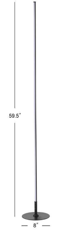 Jonathan Y 59 5 in Black Stick Floor lamp  Retail  135 23