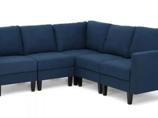 Item Incomplete  One Corner Piece to Zahra Corner Sofa by Christopher Knight Home  Navy Blue