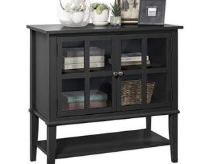 Ameriwood Home Franklin 2 Door Storage Cabinet  Black