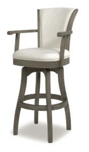 The Gray Barn Primrose Swivel Stool with Armrests  Retail 328 49