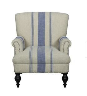 Collins Casually Chic Accent Chair  Blue