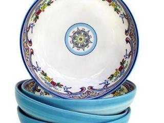 Euro Ceramica Zanzibar Earthenware Pasta Bowls 3 Piece