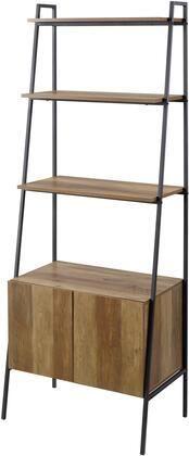 Walker Edison Furniture 72 in  Industrial Modern ladder Bookcase  Reclaimed Barnwood