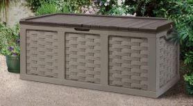 153 Gallon Plastic Deck Box  Mocha Brown  Retail 234 99