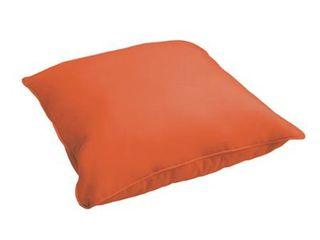Sloane Mandarin Orange 26 inch Indoor  Outdoor Corded Floor Pillow