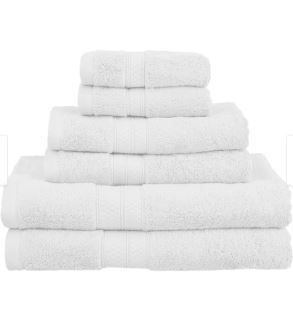 Miranda Haus Rayon from Bamboo and Cotton 6 Piece Bathroom Towel Set