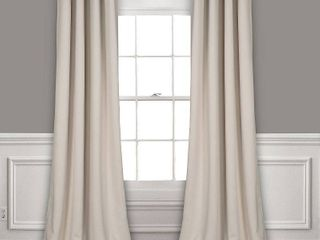 lush Decor Insulated Grommet Blackout Curtain Panel Pair  95 inches  Retail 76 48
