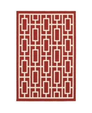 Oriental Weavers of America Arcadia Geometric Indoor Outdoor Polypropylene Rug  Red 5 3 X7 6