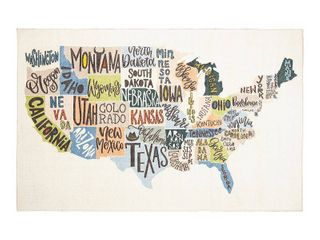 Mohawk Home Prismatic States Map Area Rug   5  x 8  Retail 176 45