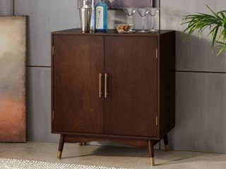 Killian Bar Cabinet Walnut   lifestorey