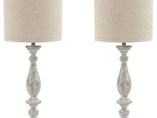 Bernadate Whitewash 31 Inch Table lamps   Set of 2  Retail 163 49