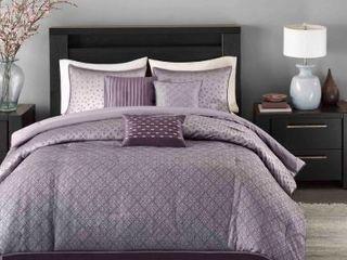 Madison Park Morris 7 piece Polyester Comforter Set  Cal King  Retail 122 11