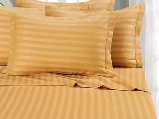 Elegant Comfort  1500 thread Count  Gold Strip Sheet Set  Full