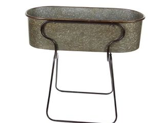 Studio 350 Metal Planter Stnd 38 inches wide  36 inches high  large