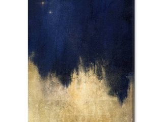 Oliver Gal  Stars at Midnight  Abstract Wall Art Canvas Print  15  x 10    Blue  Gold