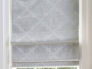 Damask Room Darkening Roman Shade  23  W x 64  l