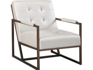 Strick   Bolton Normani White Faux leather lounge Chair  Retail 274 99