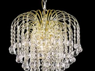 Somette Hanging Gold Crystal Four light Chandelier  Retail 209 99
