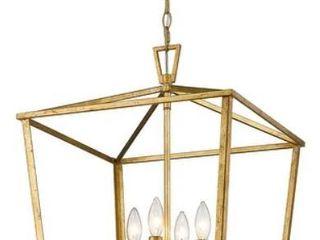 Farmhouse Modern Kitchen Island lantern Gold Finish  Retail 181 99