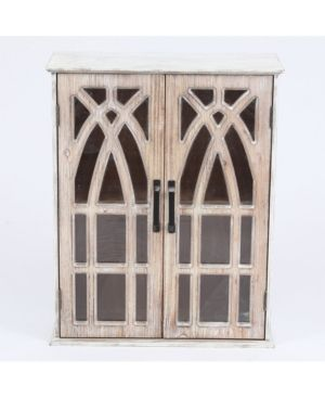 Double Door Wood Mounted Wall Cabinet  DAMAGED  SEE PICTURES  Retail 114 00
