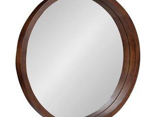 Kate and laurel Hutton Round Wood Wall Mirror   22  diameter   Retail 129 99