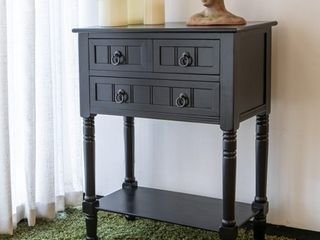 Simplify 3 drawer Wood Console Table  Midnight Black  Retail 148 99