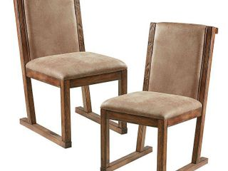 INK IVY Easton Taupe  Natural Dining Chair  Set of 2    19 w x 27 125 d x 35 875 h 2  Retail 205 99