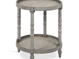 Kate and laurel Bellport Round Wood Side Table with Shelf   20 x20 x24  Retail 129 99