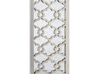 UtopiaAlley Martique Wood Decorative Mirror  31 5 H  Distressed Silver  Retail 95 49