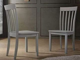 Simple living Scarlett Dining Chairs Set of 2   DAMAGED TO ONE CHAIR OF 2  SEE PICTURES  Retail 107 49