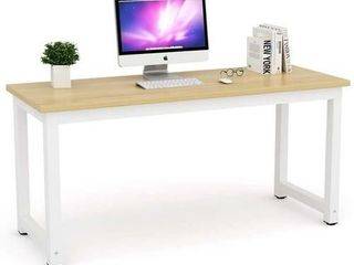 Tribesigns Computer Desk  63 inch large Office Desk Computer Table Study Writing Desk