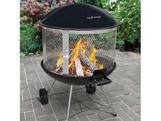 31 5  Heatwave Wood Burning Fire Pit   Black   landmann