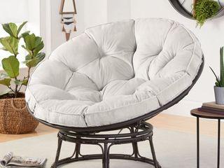 Better Homes   Gardens Papasan Chair with Fabric Cushion  Pumice Gray