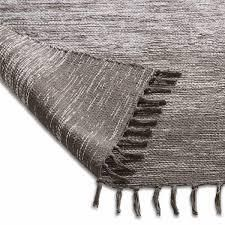 Chesapeake Cotton Ombre Grey Area Rug  5 x7