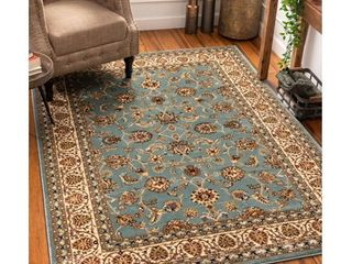 Well Woven Barclay Sarouk Traditional Oriental light Blue 7 10  x 9 10  Area Rug