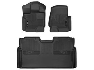 Husky liners X act Contour Front   2nd Seat Floor liners Fits 2015 19 Ford F 150 SuperCrew