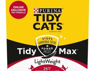 Purina Tidy Cats lightWeight Clumping Cat litter  Tidy Max 24 7 Performance Multi Cat litter   17 lb  Box