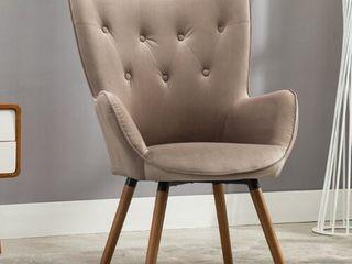Carson Carrington Arvika Button Tufted High Back Velvet Accent Chair  Retail 167 49