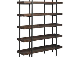 Starmore Brown Wood and Black Metal Bookcase  Retail 648 49