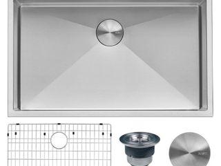 Ruvati 33 x 22 inch Drop in Topmount 16 Gauge Tight Radius Stainless Steel Kitchen Sink Single Bowl   RVH8005   31 x 18  Retail 349 00