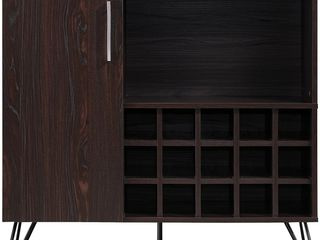 lochner Mid Century Faux Wood Wine and Bar Cabinet by Christopher Knight Home  Retail 228 49