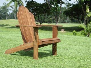 Gavil Teak Adirondack Chair  Retail 126 99