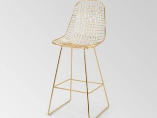 lenmore Modern Glam Iron Barstool by Christopher Knight Home  Retail 229 99