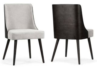 Set of 2 Asma Fabric Chair with Black Bentwood Back  Retail 295 49