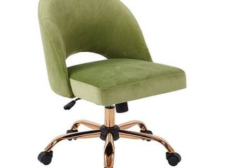 OSP Home Furnishings lula Office Chair with Rose Gold Base  Retail 218 49